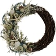 The Christmas Tree Company Crystal Tides Seashell and Dried Floral Wreath 22in.