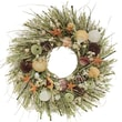 The Christmas Tree Company Tide Pool Seashell and Dried Floral Wreath 22in.
