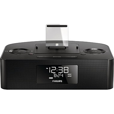 Philips Personal and Portable Lightning FM AJ7050D/37 Dual Alarm USB Clock Radio 8W with Dock