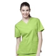 WonderWink® The Bravo Lady's Fit V-Neck Scrub Top With 5 Pockets, Green Apple, XXS