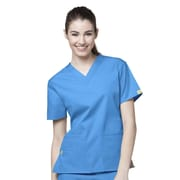 WonderWink® The Bravo Lady's Fit V-Neck Scrub Top With 5 Pockets, Malibu Blue, 4X
