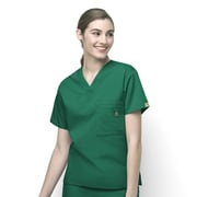 WonderWink® The Alpha Unisex Fit V-Neck Scrub Top With 3 Pockets, Hunter, 2X