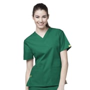 WonderWink® The Bravo Lady's Fit V-Neck Scrub Top With 5 Pockets, Hunter Green, 3X