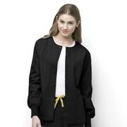 WonderWink® Delta Unisex Round Neck Jacket, Black, Large