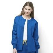 WonderWink® Delta Unisex Round Neck Jacket, Royal, Large