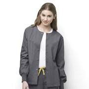 WonderWink® Delta Unisex Round Neck Jacket, Pewter, 2X