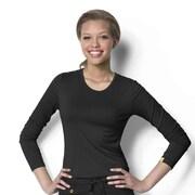 WonderWink® Women's Silky Extra Long Sleeve Tee, Black, XL