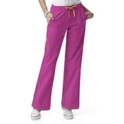 WonderWink® Four Stretch Elastic Waist Boot Cut Cargo Tall Scrub Pant, Very Berry, Small
