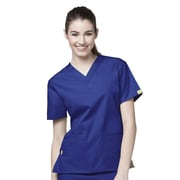 WonderWink® The Bravo Lady's Fit V-Neck Scrub Top With 5 Pockets, Galaxy Blue, 5X
