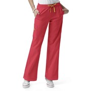 WonderWink® Four Stretch Elastic Waist Boot Cut Cargo Regular Scrub Pant, Poppy, XS