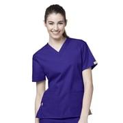 WonderWink® The Bravo Lady's Fit V-Neck Scrub Top With 5 Pockets, Grape, Large