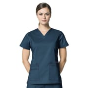 WonderWink® Verity Lady's Fit Darted V-Neck Scrub Top With 3 Pockets, Caribbean Blue, 3X