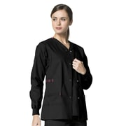 WonderWink® Constance Snap Front Scrub Jacket, Black, Medium
