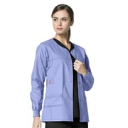 WonderWink® Constance Snap Front Scrub Jacket, Ceil Blue, Small