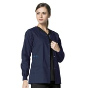 WonderWink WonderFLEX Constance Women Medium Scrub Jacket, Navy (8108ANVYMD)