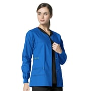 WonderWink® Constance Snap Front Scrub Jacket, Royal, Large