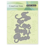 "Penny Black® 2.7"" x 4.8"" Creative Die, Love & Joy"