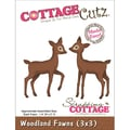 CottageCutz® 3in. x 3in. Universal Thin Die, Woodland Fawns