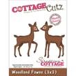 """CottageCutz® 3"""" x 3"""" Universal Thin Die, Woodland Fawns"""