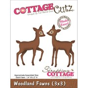 "CottageCutz® 3"" x 3"" Universal Thin Die, Woodland Fawns"