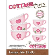 "CottageCutz® 3"" x 3"" Universal Thin Die, Teacup Trio"