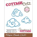 CottageCutz® 3in. x 3in. Universal Thin Die, Filigree Clouds Made Easy