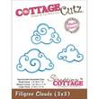 "CottageCutz® 3"" x 3"" Universal Thin Die, Filigree Clouds Made Easy"