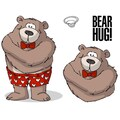 Art Impressions Valentine's 7in. x 4in. Cling Rubber Stamp, Bear Hug