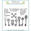 Chapel Road 5 3/4in. x 6 3/4in. Cling Mounted Rubber Stamp Set, Keys