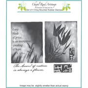 "Chapel Road 5 3/4"" x 6 3/4"" Cling Mounted Rubber Stamp Set, Large Artishapes 1"