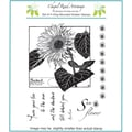 Chapel Road 5 3/4in. x 6 3/4in. Cling Mounted Rubber Stamp Set, Large Sunflower