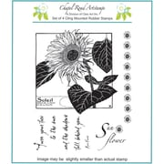 Chapel Road 5 3/4 x 6 3/4 Cling Mounted Rubber Stamp Set, Large Sunflower