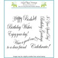 Chapel Road 5 3/4in. x 6 3/4in. Cling Mounted Rubber Stamp Set, Birthday Edwardian