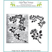 "Chapel Road 5 3/4"" x 6 3/4"" Cling Mounted Rubber Stamp Set, Bramble"
