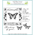 Chapel Road 5 3/4in. x 6 3/4in. Cling Mounted Rubber Stamp Set, Butterfly Square