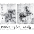 Chapel Road 5 3/4in. x 6 3/4in. Cling Mounted Rubber Stamp Set, DaVinci Horses