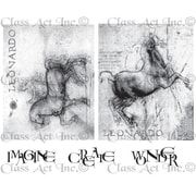 "Chapel Road 5 3/4"" x 6 3/4"" Cling Mounted Rubber Stamp Set, DaVinci Horses"