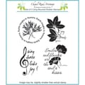 Chapel Road 5 3/4in. x 6 3/4in. Cling Mounted Rubber Stamp Set, Four Small Poems