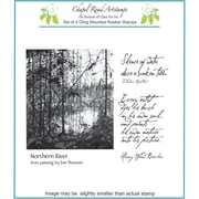 "Chapel Road 5 3/4"" x 6 3/4"" Cling Mounted Rubber Stamp Set, Northern River"