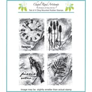 Chapel Road 5 3/4 x 6 3/4 Cling Mounted Rubber Stamp Set, Rock Artishapes