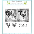 Chapel Road 5 3/4in. x 6 3/4in. Cling Mounted Rubber Stamp Set, Rooster
