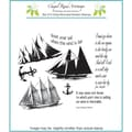 Chapel Road 5 3/4in. x 6 3/4in. Cling Mounted Rubber Stamp Set, Sail Away Plate