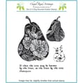 Chapel Road 5 3/4in. x 6 3/4in. Cling Mounted Rubber Stamp Set, Tapestry Pear