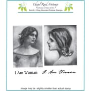 Chapel Road 5 3/4 x 6 3/4 Cling Mounted Rubber Stamp Set, Waterhouse Women