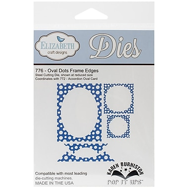 Elizabeth Craft Designs Pop It Up™ Die Set, Oval Dots Frame Edges