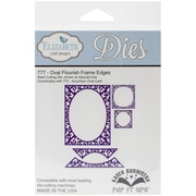 Elizabeth Craft Designs Pop It Up™ Die Set, Oval Flourish Frame Edges