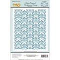 Justrite® Papercraft 4 1/2in. x 5 3/4in. Cling Background Stamp, Tulip Damask