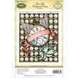 """Justrite® Papercraft 4 1/2"""" x 5 3/4"""" Cling Background Stamp, Time Flies"""
