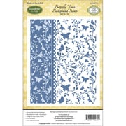"Justrite® Papercraft 4 1/2"" x 5 3/4"" Cling Background Stamp, Butterfly Vines"