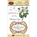 Justrite® Papercraft 4in. x 6in. Clear Stamps Set, Magnolia Vintage